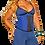 Thumbnail: 1328 - Waist trainer Verox Slim Blue Three hooks