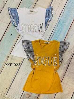 VOUGE Ruffles T-shirt #XKF1022