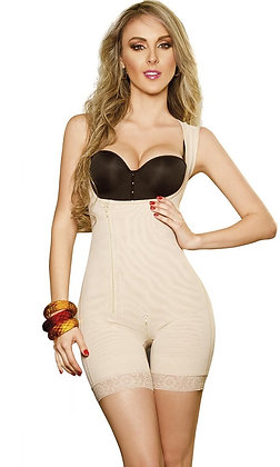 1211 POWERNET GIRDLE VEROX ZIPPER AT SIDE LONG THIGH BACK COVER