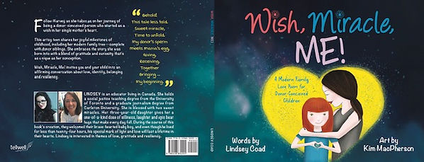 Cover and back cover for Wish, Miracle, ME! written by Lindsey Coad.