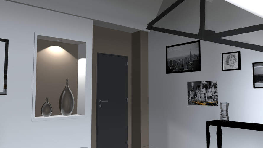 Chambre parentale taupe