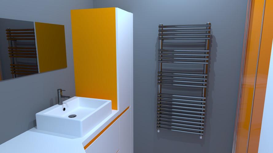 Rendu 3D salle d'eau