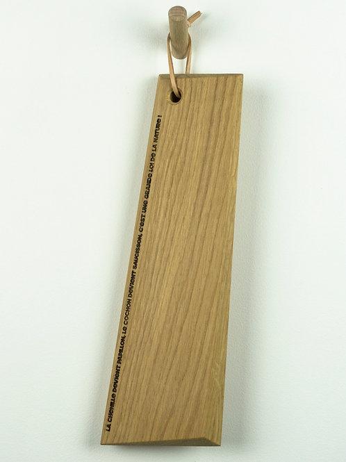 Planche apéro gravure laser chêne massif