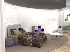 Rendu 3D intérieur espace de vente design contemporain