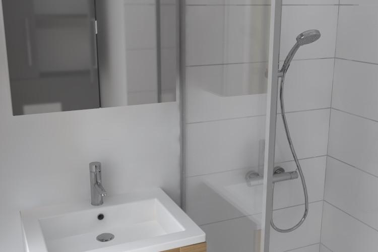 Création d'une petite salle de bain