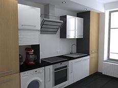 Rendu 3D intérieur cuisine