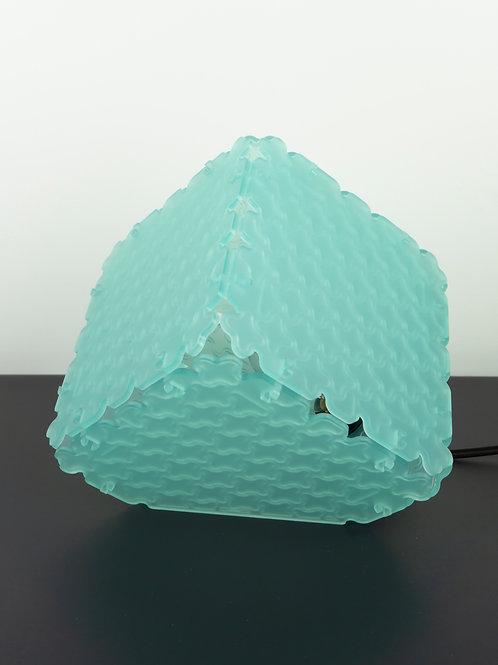 Lampe Cunégonde munu Nancy en plexiglas vert d'eau
