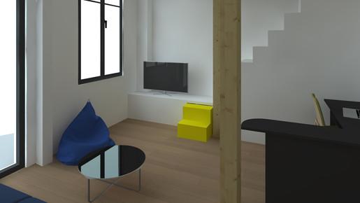 Studio parisien vue 2