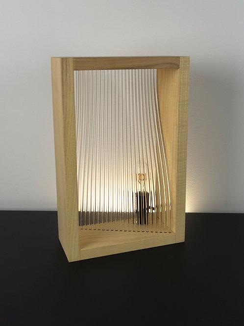 Lampe munu Nancy mini Plex frêne vue face éteinte