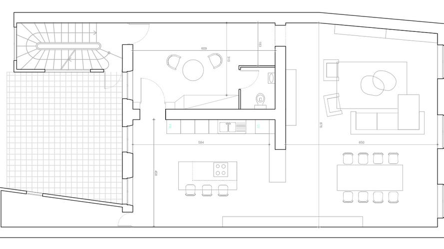 Plan aménagement salon séjour cuisine