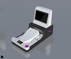 Conception et rendu 3D machine optique industielle