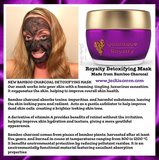 Bamboo Charcoal In The Younique Royalty Detoxifying Mask