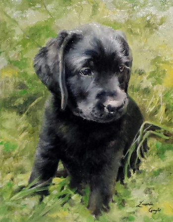 Black Lab Puppy-Dog Art, Painting.jpg
