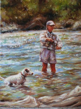 L George&Pete-Dog Art, Painting.JPG
