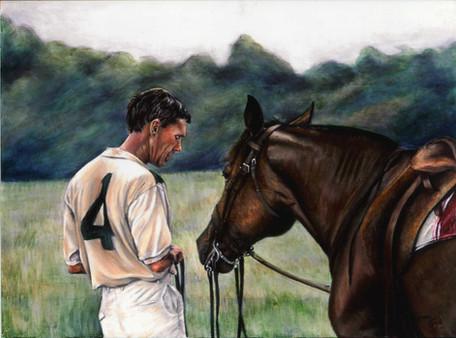 Between Chuckers-Horse Art, Painting
