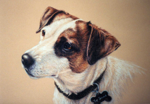 Top Secret-Dog Art, Drawing Laurie Gayle