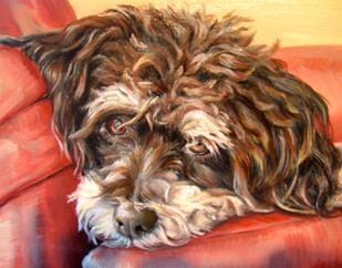 Whites, Dog Art, Painting.JPG