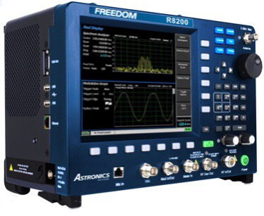 The NEW Freedom R8200 Communications System Analyzer from Astronics Test Systems!