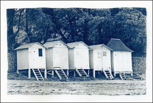 Les cabines, cyanotype