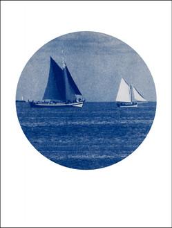 La lorgnette, cyanotype