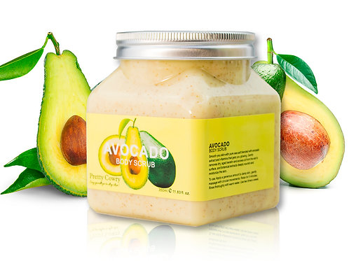 Скраб для тела с Авокадо Pretty Cowry Avocado Body Scrub (8123), 350 ml