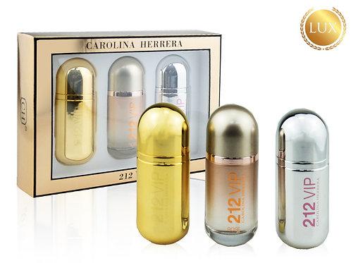 Подарочный набор CAROLINA HERRERA 212 VIP, 3 шт по 30 ml (ЛЮКС ОАЭ)