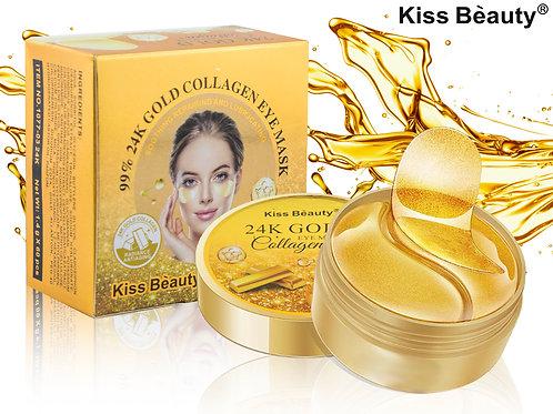 Гидрогелевые патчи для глаз с Золотом Kiss Beauty 24K Gold Collagen (1029), 60 ш