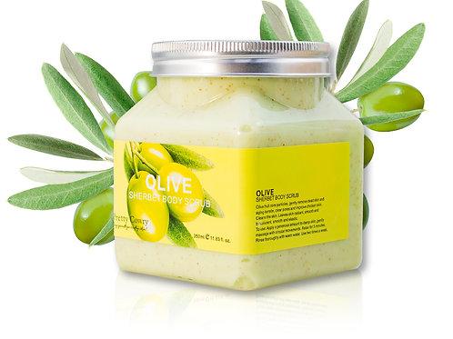 Скраб для тела с Оливой Pretty Cowry Olive Sherbet Body Scrub (8131), 350 ml