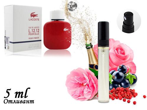 Пробник EAU DE LACOSTE L.12.12 POUR ELLE FRENCH PANACHE, Edt, 5 ml (Lux Europe)