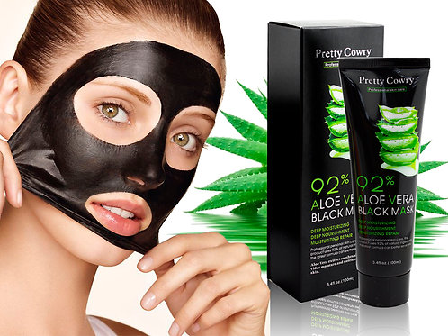 Черная маска-пленка с Алое Pretty Cowry 92% (5573), 100 ml (Уценка, мят. коробки