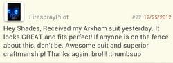 Arkham city Batman testimonial