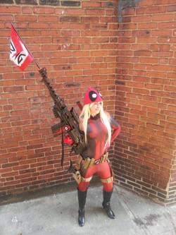 Lady Deadpool Cosplay Costume