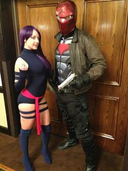 Red Hood & Psylocke at Comic Con