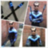 Arkham Nightwing cosplay costume