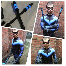 Arkham Nightwing cosplay costume