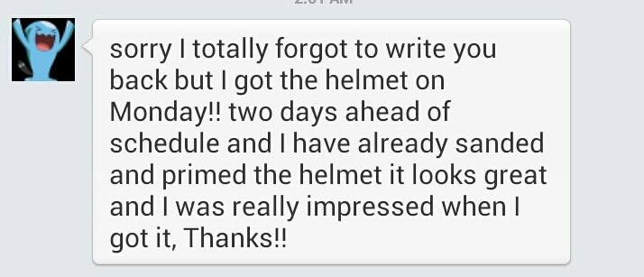 Deathstroke Helmet Testimonial