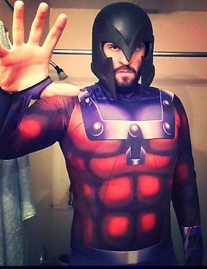 Magneto Cosplay Costume Sub Dye Suit