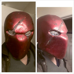 Red Hood Helmet - Battle Damaged