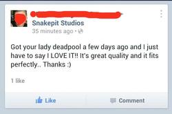 Lady Deadpool Testimonial
