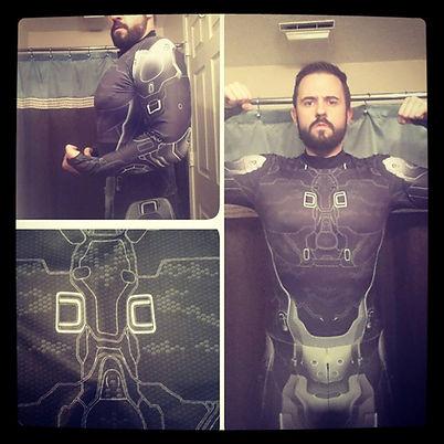 Halo sub dye under armor cosplay costume
