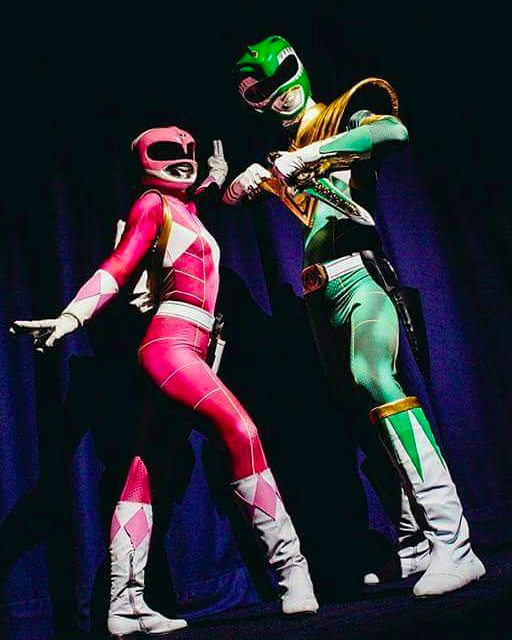 Green & Pink Power Rangers