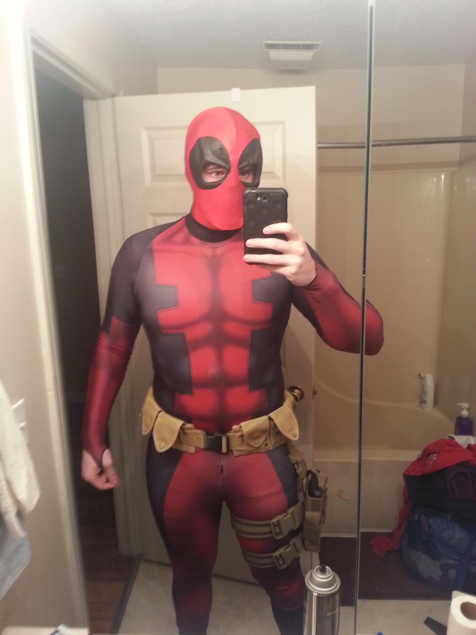 Deadpool Cosplay Sub Dye Costume