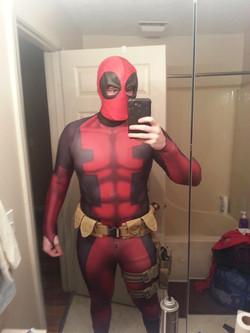 Deadpool Cosplay Sub Dye Costume