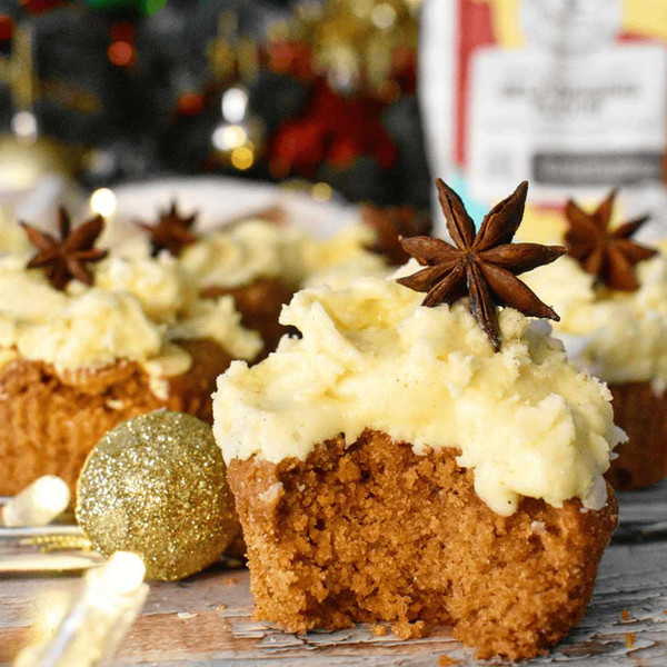 Gingerbread Cupcakes and Eggnog Frosting with Good Harvest Co. Self Raising Flour