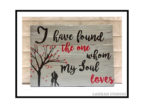 "Lakkad Studios Wooden Wall Art Love Quotes"" I Have found the one"""