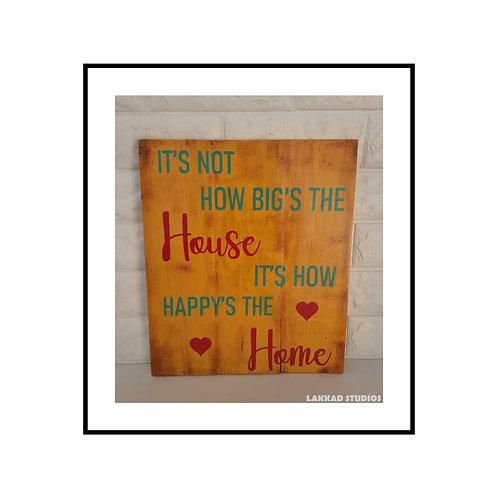 """Wooden Wall Art Rustic quotation Board """"House Home"""""""""""
