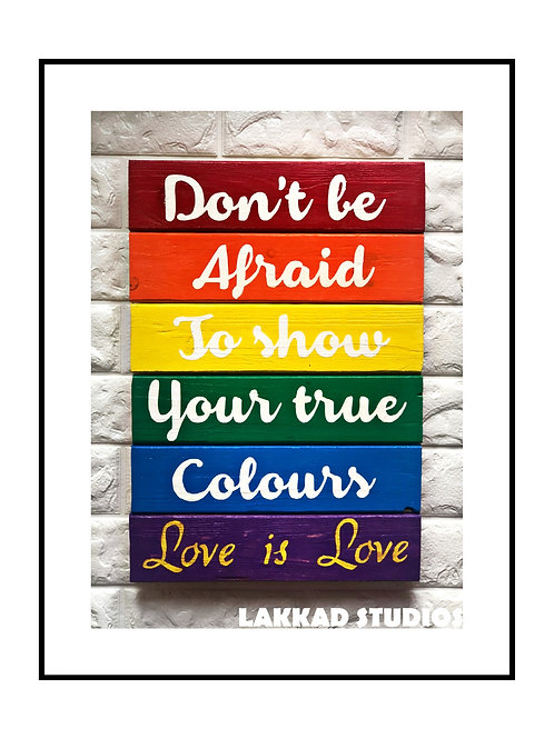 Wall Hanging LGBTQ Flag Love is Love