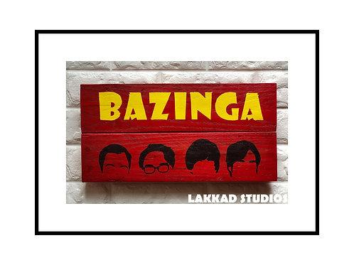 """Wall Hanging Big Bang Theory """"Bazinga"""""""