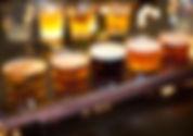 Des échantillons de bière