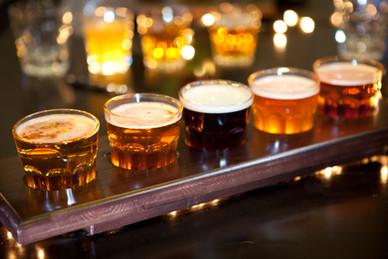 Las muestras de cerveza